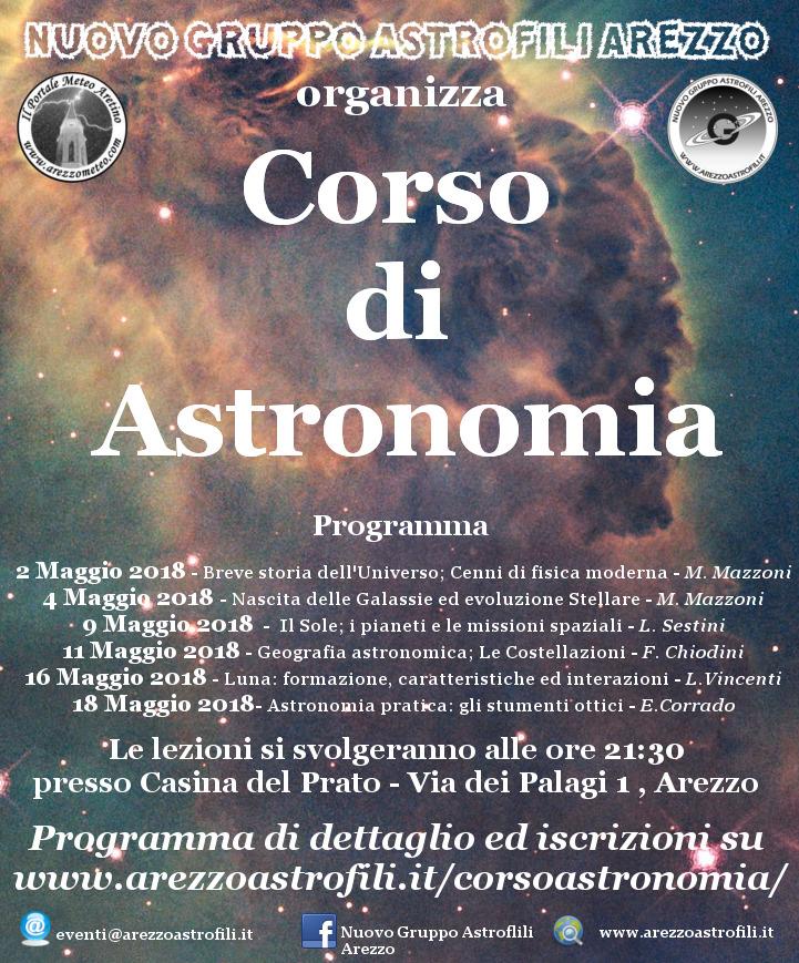 Volantino corso di astronomia 2018